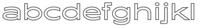 Maxy Medium Outline Font LOWERCASE