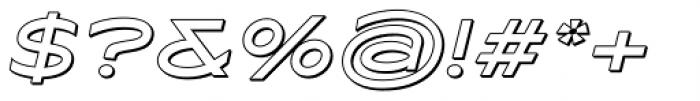 Maxy Medium Shadow Italic Font OTHER CHARS