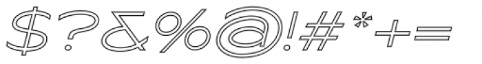 Maxy Minimum Outline Italic Font OTHER CHARS