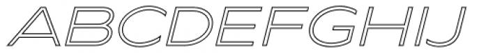 Maxy Minimum Outline Italic Font UPPERCASE