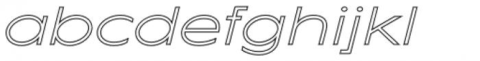 Maxy Minimum Outline Italic Font LOWERCASE