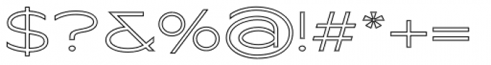Maxy Minimum Outline Font OTHER CHARS