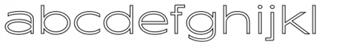 Maxy Minimum Outline Font LOWERCASE