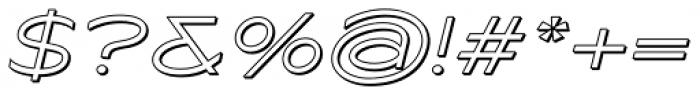 Maxy Minimum Shadow Italic Font OTHER CHARS