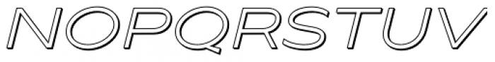 Maxy Minimum Shadow Italic Font UPPERCASE