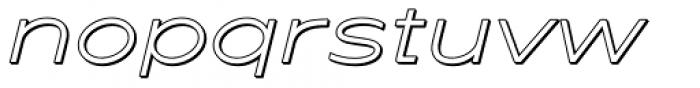 Maxy Minimum Shadow Italic Font LOWERCASE