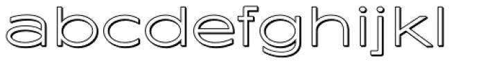 Maxy Minimum Shadow Font LOWERCASE