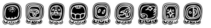 Maya Day Names Font UPPERCASE