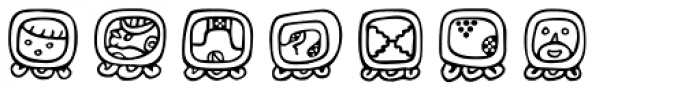 Maya Day Names Font LOWERCASE