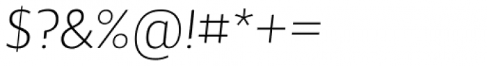 Maya Samuels OsF ExtraLight Italic Font OTHER CHARS