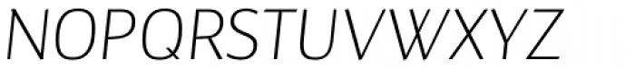 Maya Samuels OsF ExtraLight Italic Font UPPERCASE