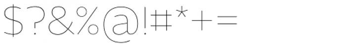 Maya Samuels OsF Thin Font OTHER CHARS