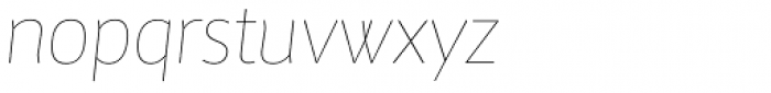 Maya Samuels Pro Thin Italic Font LOWERCASE