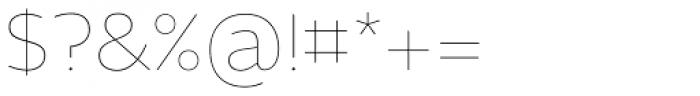 Maya Samuels Pro Thin Font OTHER CHARS