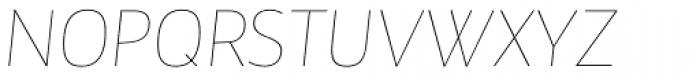 Maya Samuels Thin Italic Font UPPERCASE