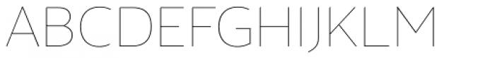 Maya Samuels Thin Font UPPERCASE