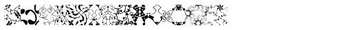 Maya Tiles Fill Font LOWERCASE