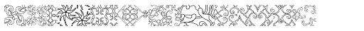 Maya Tiles Outlines Font UPPERCASE