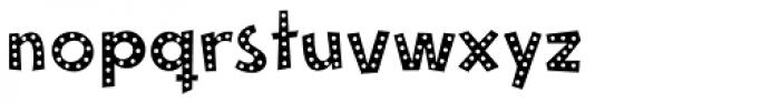 Mayayo Holes Font LOWERCASE