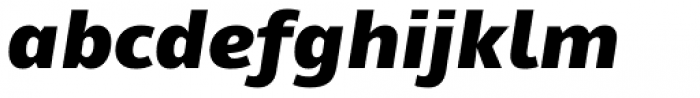 Mayberry WGL Black Italic Font LOWERCASE