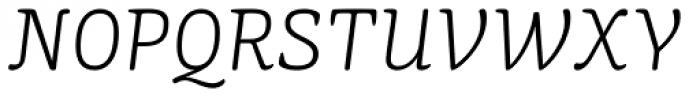 Mayonez ExtraLight Italic Font UPPERCASE