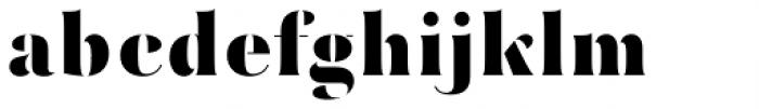 Mazette Extra Bold Font LOWERCASE