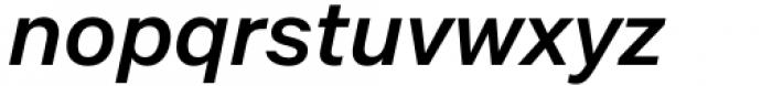 Mazin SemiBold Italic Font LOWERCASE