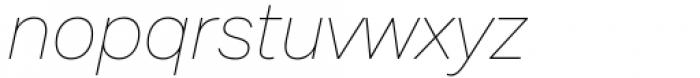 Mazin Thin Italic Font LOWERCASE