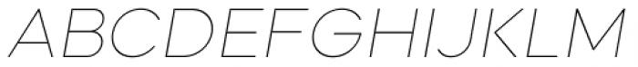 Mazzard Soft L  Thin Italic Font UPPERCASE