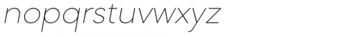 Mazzard Soft L  Thin Italic Font LOWERCASE