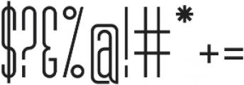 MB Narrow otf (700) Font OTHER CHARS