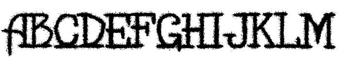 MB-Back for Death Font UPPERCASE