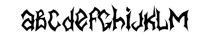 MB-BlackBook Type Font LOWERCASE