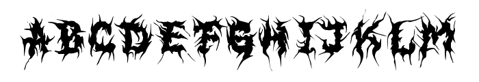 MB EvilGhost Font LOWERCASE