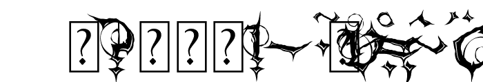 MB Gothic Spell Font OTHER CHARS