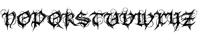 MB Gothic Spell Font UPPERCASE