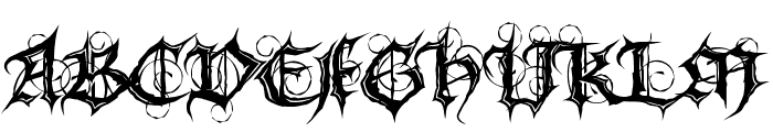 MB Gothic Spell Font LOWERCASE