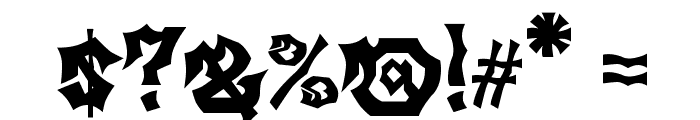 MB Gravitation Font OTHER CHARS