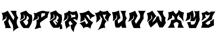 MB Gravitation Font UPPERCASE