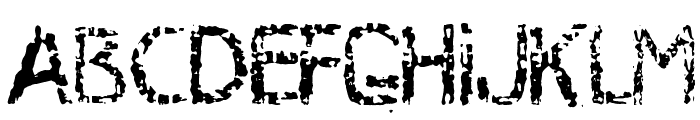 MB-RustyIron Font LOWERCASE