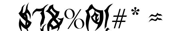 MB TyranT Font OTHER CHARS
