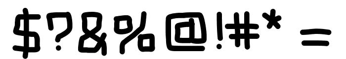 MBBlockType Font OTHER CHARS