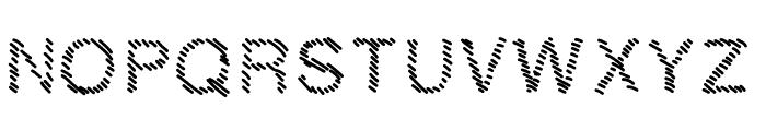 MBHatch Font UPPERCASE
