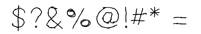 MBScribbles Font OTHER CHARS