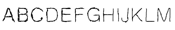 MBScribbles Font UPPERCASE