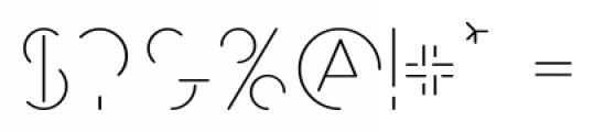 MB NEGATIVESPACE Regular Font OTHER CHARS