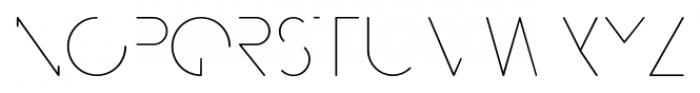 MB NEGATIVESPACE Regular Font UPPERCASE