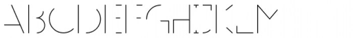 MB NEGATIVESPACE Font LOWERCASE