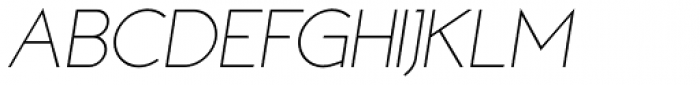 MB NOIR Light Italic Font UPPERCASE