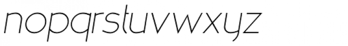 MB NOIR Light Italic Font LOWERCASE